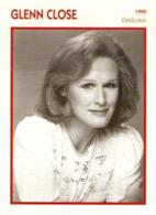 GLENN CLOSE (1990) - Fiche Portrait Star Cinéma - Filmographie - Photo Collection Edito Service - Photographs