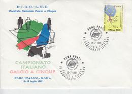 ITALIA 1989 - Annullo Speciale - Campionato Itl. Calcio A 5 - Calcio