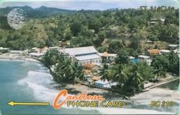 SAINTE LUCIE  -  Phonecard  - Cable & Wireless  -  EC $ 10 - Santa Lucía