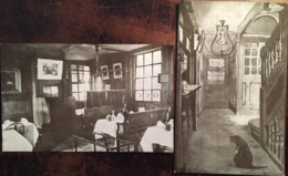 """2 Cp Du """" Ye Olde Cheshire Cheese """"  Pub City De Londres (London, England), Bar, Cosy Corner / Entrance (cat),éd G.P - Caffé"""
