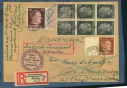 """1943, Adressträger Eines Schweren Briefes (501-1.000 G) üer Einschreiben Ab """"NOWOMOSKOWSK (Kr. Dnjepropetrowsk) - Deutschland"""