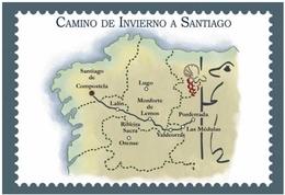 CAMINO DE INVIERNO A SANTIAGO. TARJETA PREFRANQUEADA ESPAÑA. TARIFA A. ENTERO POSTAL. Postcard Paid Postage. - Stamped Stationery