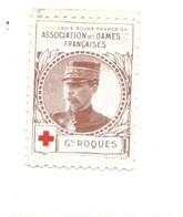 Vignette Général ROQUES Dames Françaises Croix Rouge Bien 32 X 25 Mm 2 Scans - Commemorative Labels