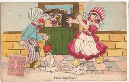"Dessin G.B. ""visite Imprévue""  (1928)  CP382 - Humor"