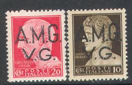 3048 ✅ WW2 WWII War Occupation History Of Rome Caesar Standard 1945 Trieste Zone-A Italy 2v MNH ** - Ocu. Yugoslava: Trieste