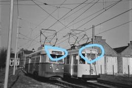 PHOTO  TRAM 36 LA LOUVIERE DEPOT TRIVIERES PERONNES BINCHE + CORRESPONDANCE TRIVIERES STREPY SNCV REPRO - Tramways