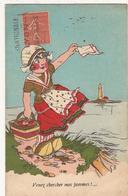 """Dessin G.B. """"Venez Chercher Mes Pommes """"  (1928)  CP380 - Humor"""