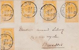 Enveloppe Cover Brief 54 Arlon à Bruxelles - 1893-1907 Armarios