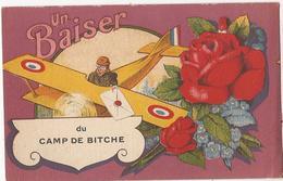Baiser Du Camp De Bitche   CP385 - Guerra 1914-18