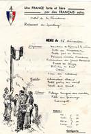 25 Décembre Menu De La Légion Des Volontaires Français Sur Entete De La Légion - Postmark Collection (Covers)