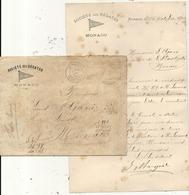 MONACO .LETTRE + ENV .SOCIETE DES REGATES MONACO . SIGNEE - Documents Historiques
