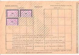 MIRAMONT De GUYENNE Lot Et Gar Assurances Sociales Fiscaux Socio-postaux Type 1931 Merson 18 F Violet Yv 47 - Fiscales
