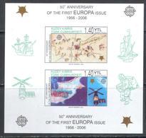 3116 Europe CEPT Space Raumfahrt Rockets Satellite Fleet Ships Schiffe Sailboats Maps 2006 Turkish Cyprus S/s MNH ** 7ME - Space