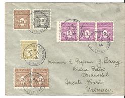 Lettre De Coulommiers à Monaco 08/11/1944 - 1944-45 Arc De Triomphe