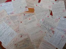 CROIX ROUGE CACHETS GRIFFES TIMBRES MAROC ALGER VICHY MESSAGES BON LOT A VOIR - Marcophilie (Lettres)