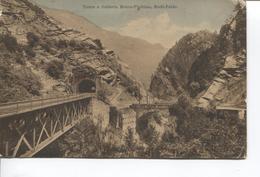 REF702/ PC Switzerland Ponte E Galleria Monte-Piottino Rodi-Faido / Bridge Italia > Belgium Namur - TI Tessin