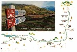 EL CAMINO DE SANTIAGO FRANCÉS POR ARAGÓN. PREFRANQUEADA ESPAÑA. TARIFA A. ENTERO POSTAL. Postcard Paid Postage. - Stamped Stationery