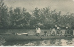 POSTAL DE GUINEA ESPAÑOLA DE UN CAYUCO EN EL RIO KYE (EXPO IBERO-AMERICANA SEVILLA 1929) - Equatorial Guinea