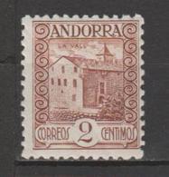ANDORRA CORREO ESPAÑOL Nº 28 VARIEDAD SIN PIE DE IMPREMTA (S.2) - Andorra Española