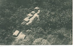 POSTAL DE GUINEA ESPAÑOLA DE POBLADO DE INTERIOR VISTO POR LA ESCUADRILLA (EXPO IBERO-AMERICANA SEVILLA 1929) - Guinée Equatoriale