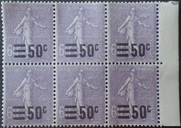 R1615/1929 - 1926/1927 - TYPE SEMEUSE FOND LIGNE - BLOC N°223 TIMBRES NEUFS** BdF - Unused Stamps