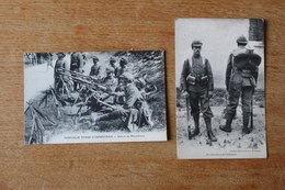 CPA 2 Cartes L Les Nouvelles Tenues De L'armée Française    Section De Mitrailleuse  Et Réséda - Guerre 1914-18