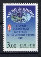 """RUSSIE RUSSIA 2003, """"Le 21e Siècle Sans Drogue"""", 1 Valeur, Neuf / Mint. R1026 - Unused Stamps"""