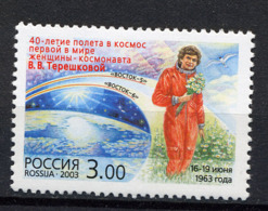RUSSIE RUSSIA 2003, Yvert 6726, Espace, Terechkhova, 1 Valeur, Neuf / Mint. R1023 - Unused Stamps