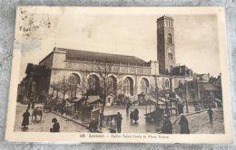 56 Lorient 1936 Eglise St Louis Place Bisson Marche Charrettes Passants Des Coiffes - Lorient