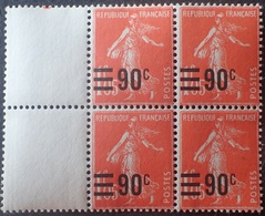 R1615/1931 - 1926/1927 - TYPE SEMEUSE FOND LIGNE - BLOC N°227 TIMBRES NEUFS** - Unused Stamps