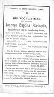 Roelandts J.b. (  Hulpbroeder  Lede 1818 -drongen 1884) - Religión & Esoterismo