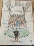- Dessin Humoristique - Cabu- Laboratoire Le Brun - 1964 - - Vieux Papiers
