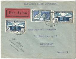Lettre Par Avion Du Bourget à Copenhague Obl Bourget Aviation 01/07/1926 - Marcophilie (Lettres)