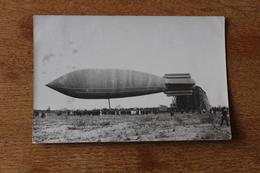 Carte Photo Dirigeable 1906  Ballon Saucisse - Dirigeables