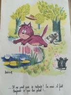 - Dessin Humoristique - Barberousse - Laboratoire Le Brun - 1963 - - Vieux Papiers