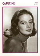 Germaine Lefebvre Dite CAPUCINE (1970)  - Fiche Portrait Star Cinéma - Filmographie -  Photo Collection Edito Service - Photos