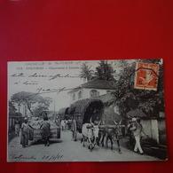 COLOMBO CHARRETTE A BOEUFS CACHET BATEAU MARSEILLE A YOKOHAMA - Sri Lanka (Ceylon)