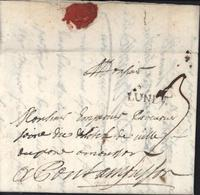 54 Meurthe Et Moselle 52 Marque Postale LUNEV Noir 22x5 Lenain 1A Pour Pont à Mousson Taxe Manuscrite 3 15 5 1754 - Postmark Collection (Covers)