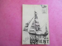 CPA 56 LORIENT FANTAISIE SOUVENIR BATEAU MULTI VUES - Lorient