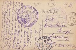 CP En Franchise De St Etienne + Dépôt De Prisonniers De St Rambert/Loire Le 3/6/16 Pour Wesserling (6/6/16) - Poststempel (Briefe)
