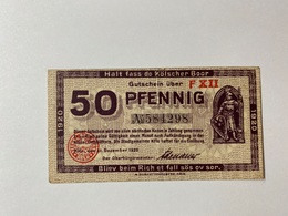 Allemagne Notgeld Koln 50 Pfennig - [ 3] 1918-1933 : République De Weimar