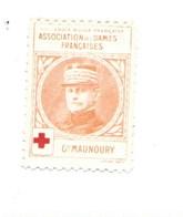 Vignette Général MAUNOURY Dames Françaises Croix Rouge Bien 32 X 25 Mm 2 Scans - Commemorative Labels