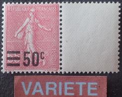 "R1615/1942 - 1926/1927 - TYPE SEMEUSE FOND LIGNE - N°224e NEUF** - SUPERBE VARIETE ➤➤➤ Gomme "" Nid D'abeille "" - Variétés Et Curiosités"