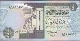 TWN - LIBYA 58b - ½ Dinar 1991 Series 4 - Prefix 28ﺩ UNC - Libya