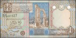 TWN - LIBYA 62 - ¼ Dinar 2002 Series 5 - Prefix 18ﻫ UNC - Libya