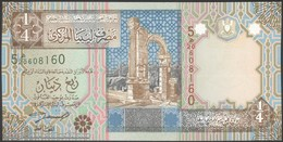 TWN - LIBYA 62 - ¼ Dinar 2002 Series 5 - Prefix 20ﻫ UNC - Libya