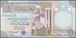 TWN - LIBYA 63 - ½ Dinar 2002 Series 5 - Prefix 12ﺩ UNC - Libya