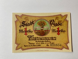 Allemagne Notgeld Lugde 1 Mark - [ 3] 1918-1933 : République De Weimar