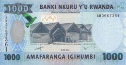 RWANDA 1000 FRANCS 2015 UNC P 39 - Rwanda