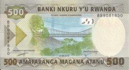 RWANDA 500 FRANCS 2019 UNC P New - Rwanda